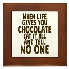 Life Gives You Chocolate Framed Tile