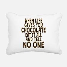 Life Gives You Chocolate Rectangular Canvas Pillow