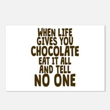 Life Gives You Chocolate Postcards (Package of 8)