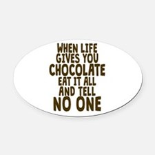 Life Gives You Chocolate Oval Car Magnet