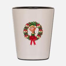 Santa's Elf Wreath Shot Glass