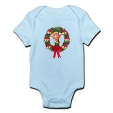 Santa's Elf Wreath Infant Bodysuit