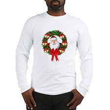 Santa Claus Wreath Long Sleeve T-Shirt