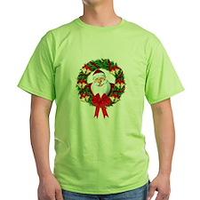 Santa Claus Wreath T-Shirt