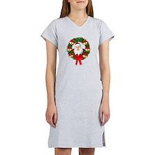 Santa Claus Wreath Women's Nightshirt