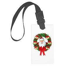 Santa Claus Wreath Luggage Tag