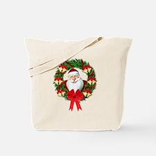 Santa Claus Wreath Tote Bag
