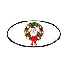 Santa Claus Wreath Patch