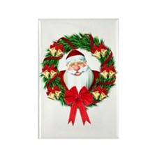 Santa Claus Wreath Rectangle Magnet (100 pack)