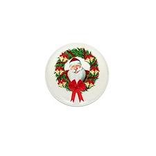 Santa Claus Wreath Mini Button