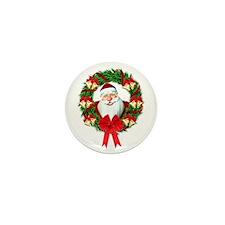 Santa Claus Wreath Mini Button (100 pack)