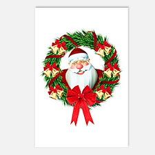 Santa Claus Wreath Postcards (Package of 8)