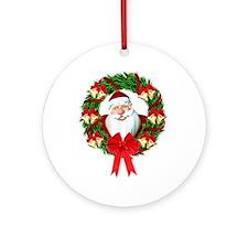Santa Claus Wreath Ornament (Round)