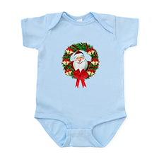 Santa Claus Wreath Infant Bodysuit