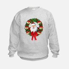 Santa Claus Wreath Sweatshirt