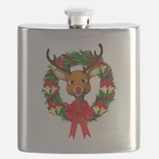Rudolph the Red Nosed Reindeer Wreath Flask