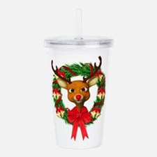 Rudolph the Red Nosed Acrylic Double-wall Tumbler