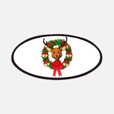 Rudolph the Red Nosed Reindeer Wreath Patch