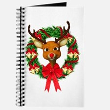 Rudolph the Red Nosed Reindeer Wreath Journal