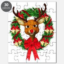 Rudolph the Red Nosed Reindeer Wreath Puzzle