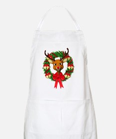 Rudolph the Red Nosed Reindeer Wreath Apron