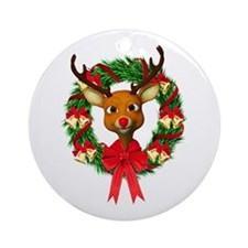 Rudolph the Red Nosed Reindeer Wr Ornament (Round)