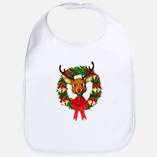 Rudolph the Red Nosed Reindeer Wreath Bib