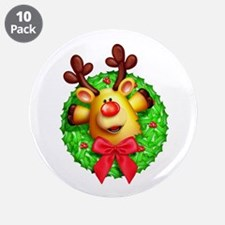 "Rudolph the Red Nosed Reinde 3.5"" Button (10 pack)"