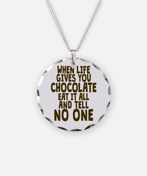 Life Gives You Chocolate Necklace