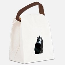 Black & white cat Canvas Lunch Bag