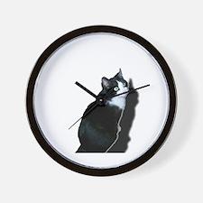 Black & white cat Wall Clock
