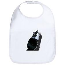 Black & white cat Bib