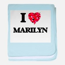 I Love Marilyn baby blanket