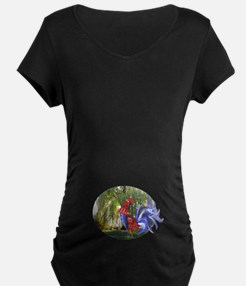 Rooster And It's Willow Tree Maternity T-Shirt