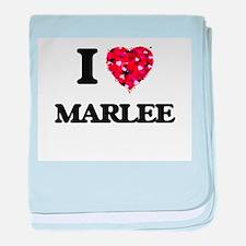 I Love Marlee baby blanket
