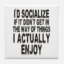 Antisocial Humor Tile Coaster