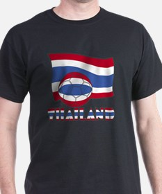Thai Soccer Ball and Flag T-Shirt