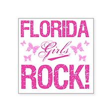 "Florida Girls Rock Square Sticker 3"" x 3"""