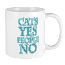 Cats Yes People No Mugs