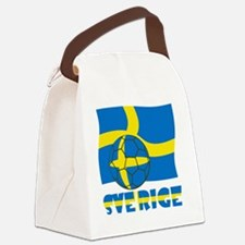 Sverige Swedish Soccer Ball and F Canvas Lunch Bag