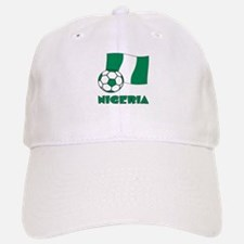 Nigeria Flag and Soccer Baseball Baseball Cap