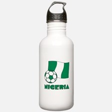 Nigeria Flag and Socce Water Bottle