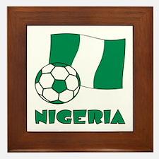 Nigeria Flag and Soccer Framed Tile