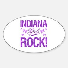 Indiana Girls Rock Sticker (Oval)