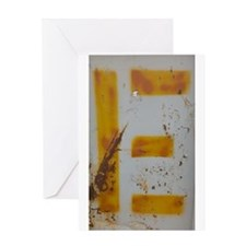 Uppercase E - Yellow Greeting Card