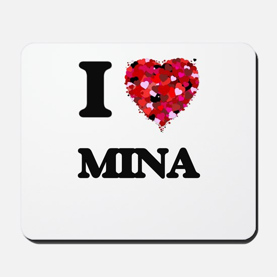 I Love Mina Mousepad