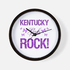 Kentucky Girls Rock Wall Clock