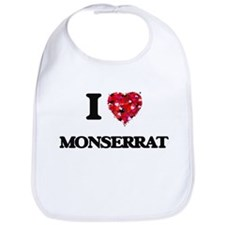 I Love Monserrat Bib