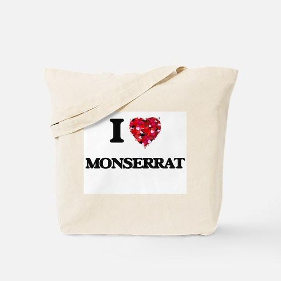 I Love Monserrat Tote Bag