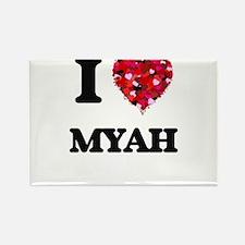 I Love Myah Magnets